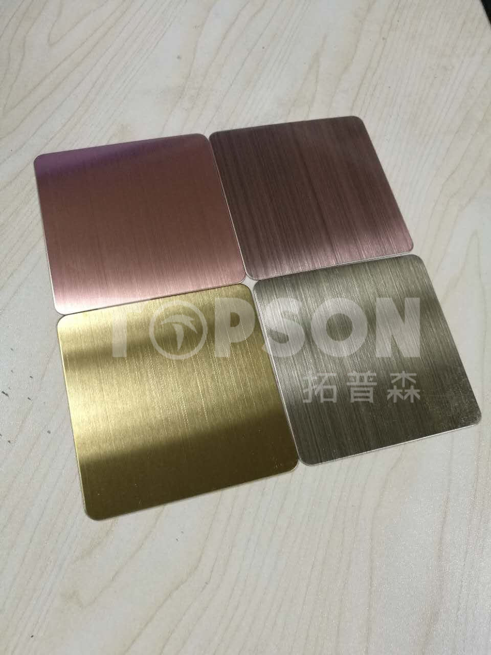201 304 Cold Rolled Hairline Stainless Steel Color Sheet for Decoration PVD