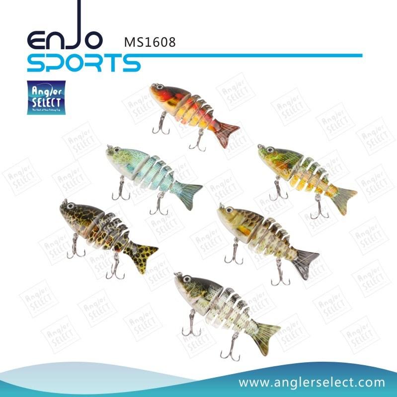 Multi Jointed Fishing Life-Like Minnow Lure Bass Bait Swimbait Shallow Artificial Fishing Tackle Fishing Bait