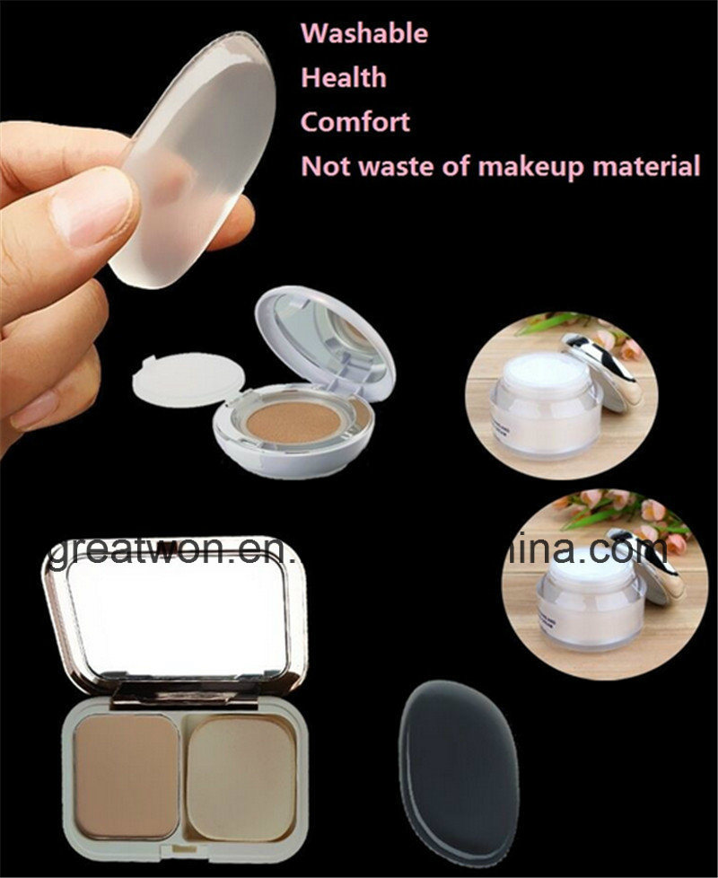 2017 New Soft Silicone Makeup Puff Silicone Foundation Blender Sponge