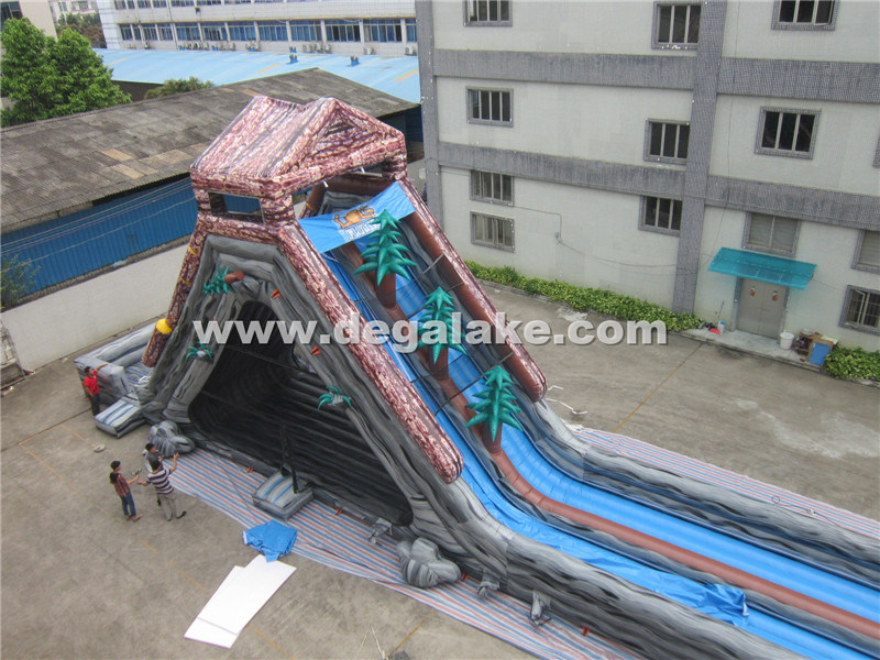 164feet/50m Giant Inflatable Hippo Water Slide for Adult
