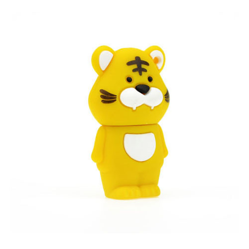 The Tiger Cartoon USB Flash Drive Gifts Cartoon USB Customized Logo Gifts 256GB