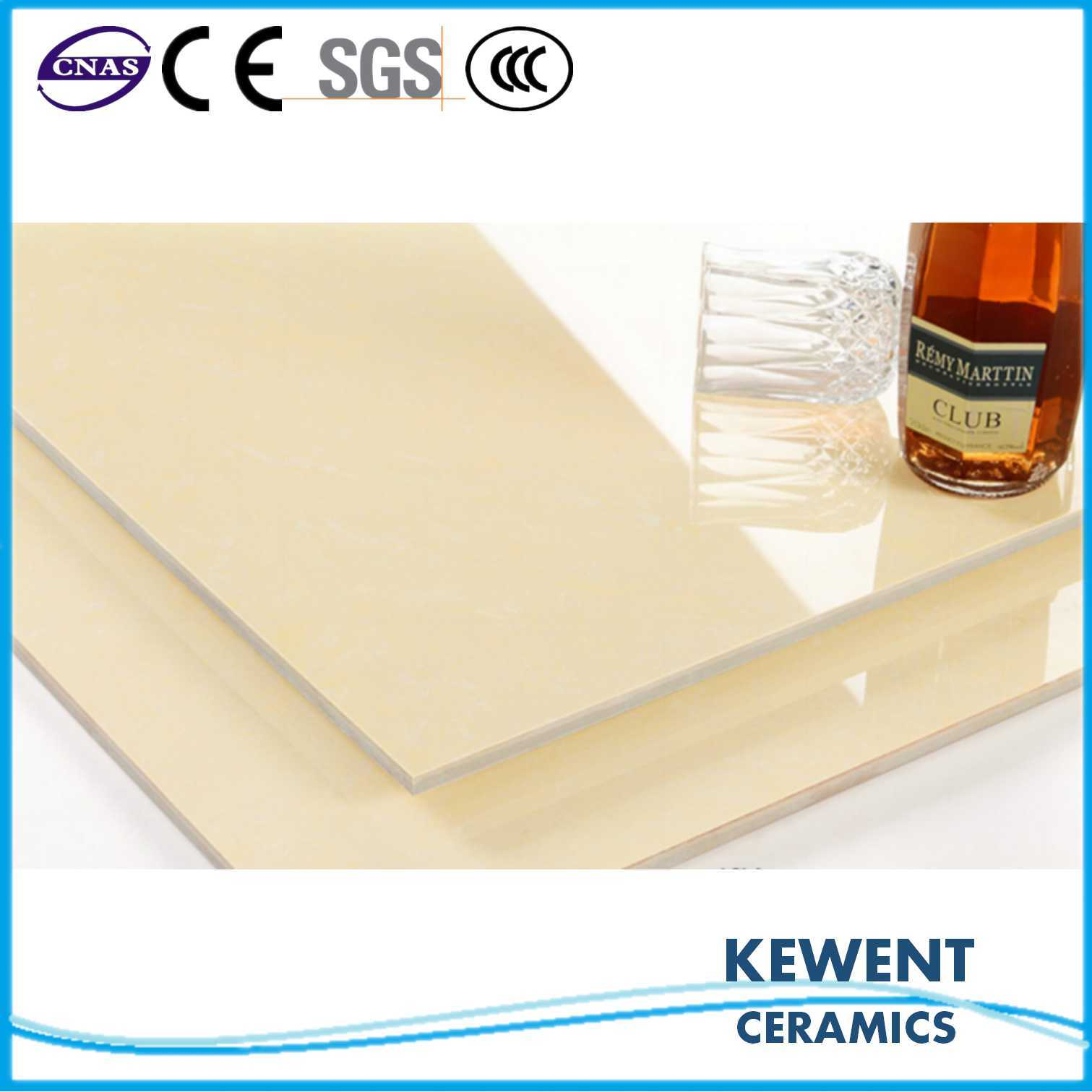 Manufacturer Price Non Slip Yellow Double Loading Polished Porcelain Floor Tiles