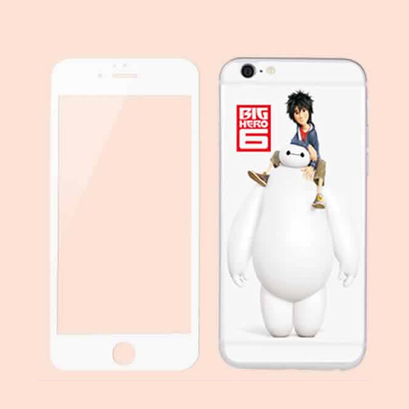 Hot Sales Cartoon Tempered Glass Both Sides Screen Protector for iPhone6/6s Plus in Stock