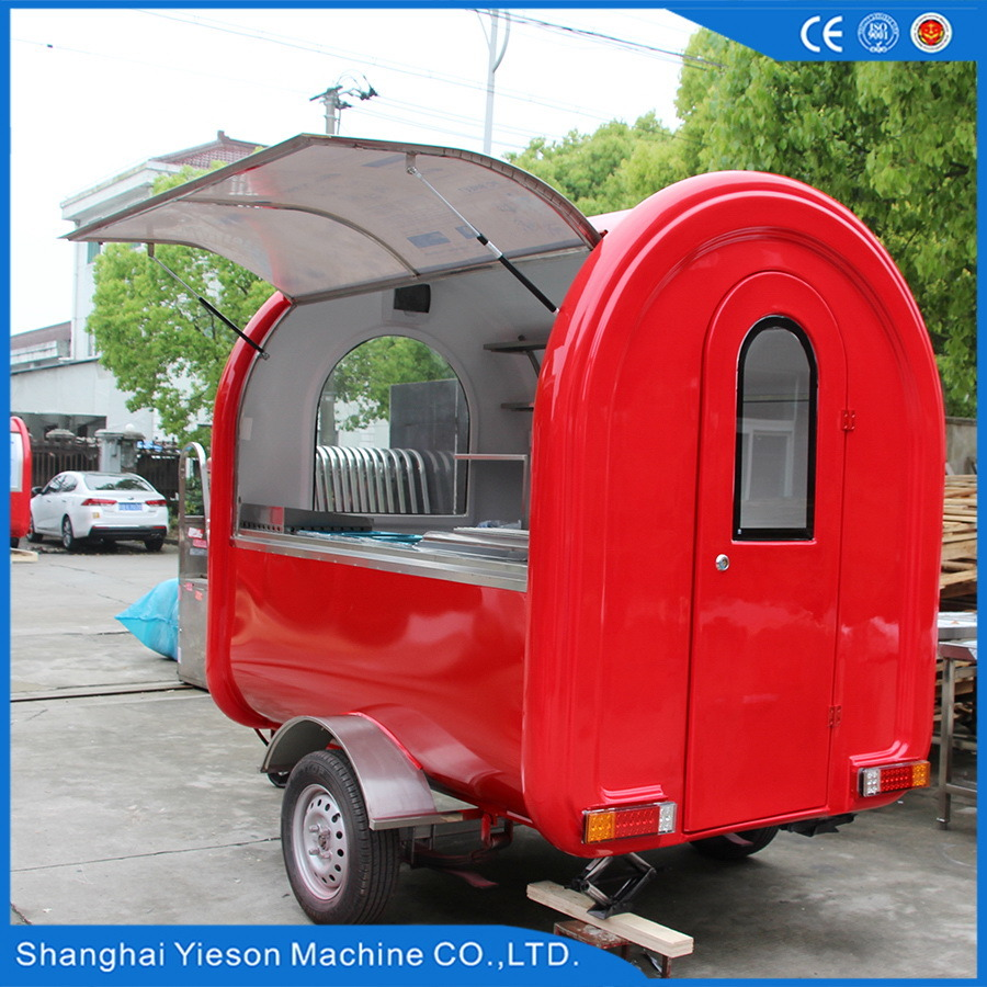 Red Color Mobile Food Trailer with Ce Certificates