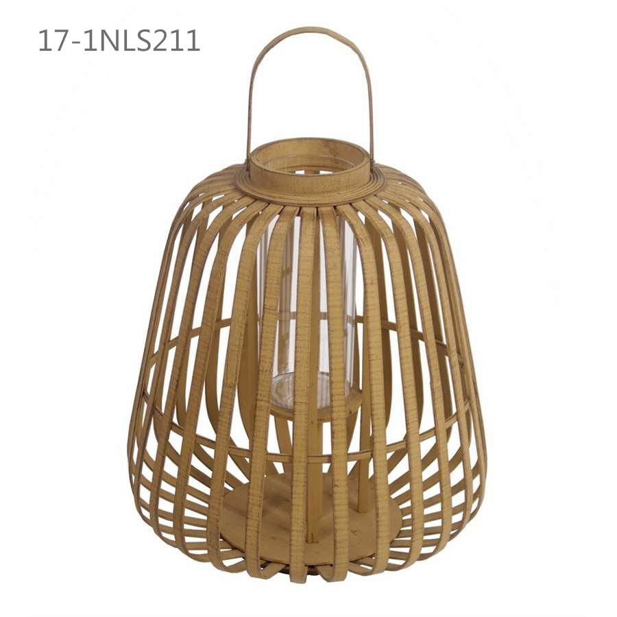 Shabby Unique Antique with Handle of Cool Bamboo Lanterns