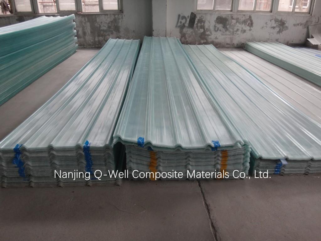 FRP Panel Corrugated Fiberglass/Transparent Fiber Glass Roofing Panels W171024