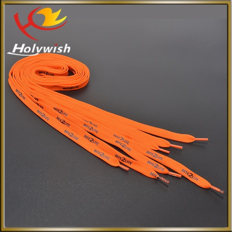 Custom Polyester Silk Printing Shoelaces for Sale