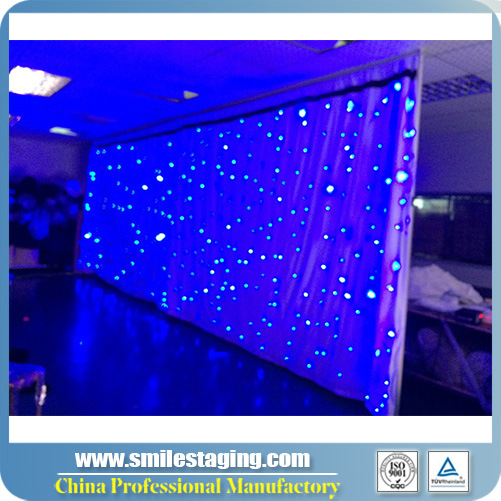 RGB 3 in 1 Tricolor Star Curtain for Stage Backdrop Cloth