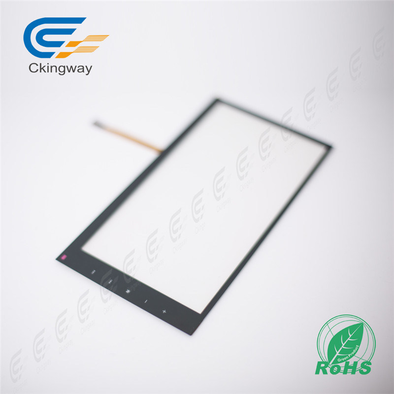 """6.95"""" 4 Wire Resistive Touch Screen Glass"""