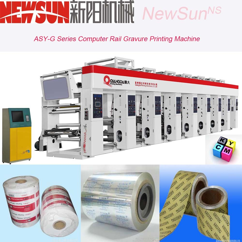 Asy-G Series Computerized Rail Aluminum Foil Rotogravure Printing Machine