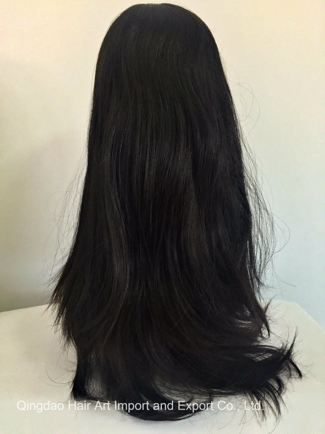 22′′ Mongolian Virgin Hair Silk Top Jewish Wig for Women