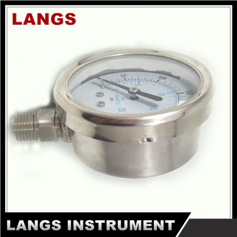 032 All Stainless Steel Liquid Fillable Bayonet Ring Manometer