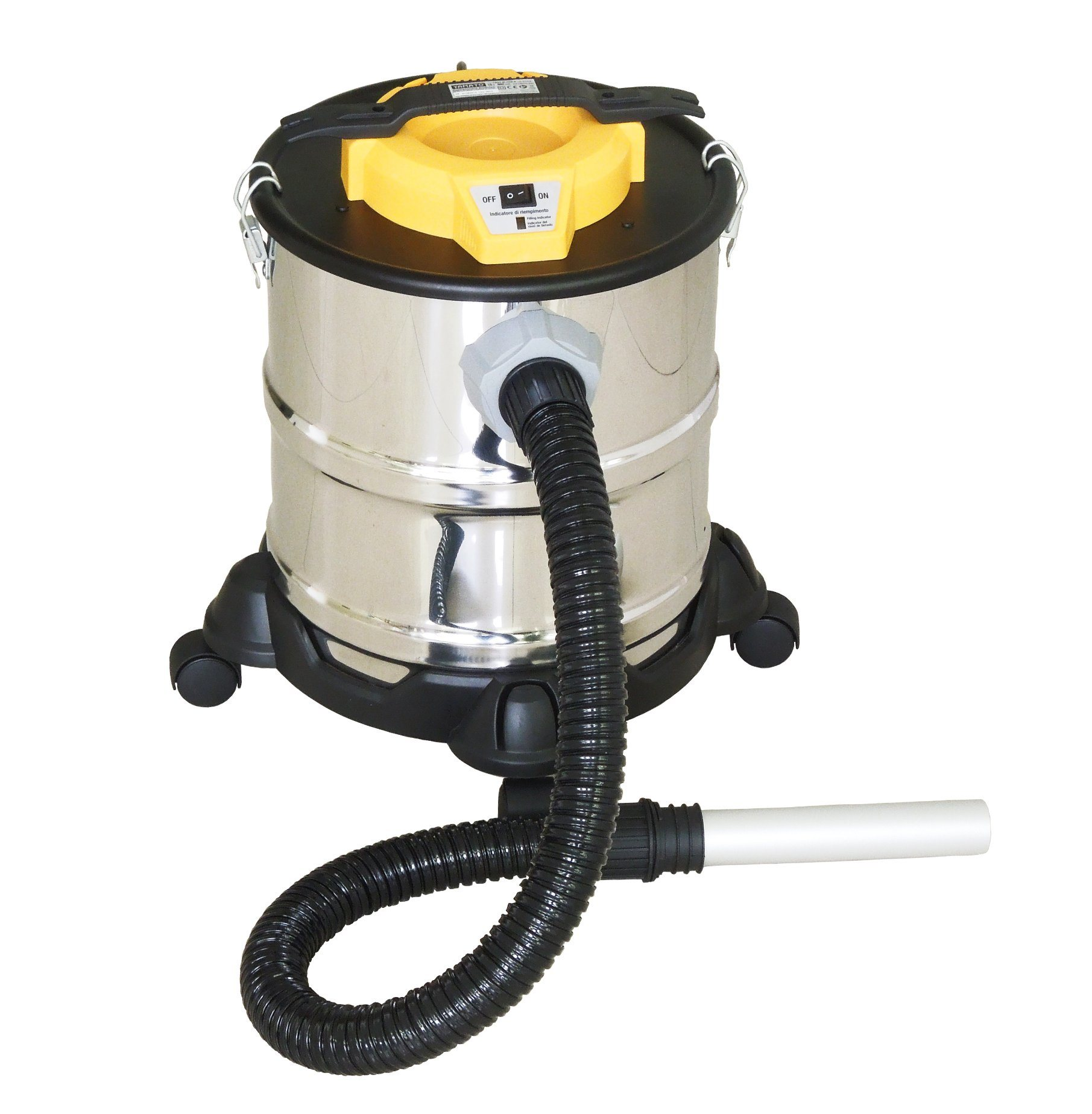 302-15-25L Electric Dry Dust Fireplace Ash BBQ Ash Vacuum Cleaner with with Filling Indicator with or Without Wheelbase