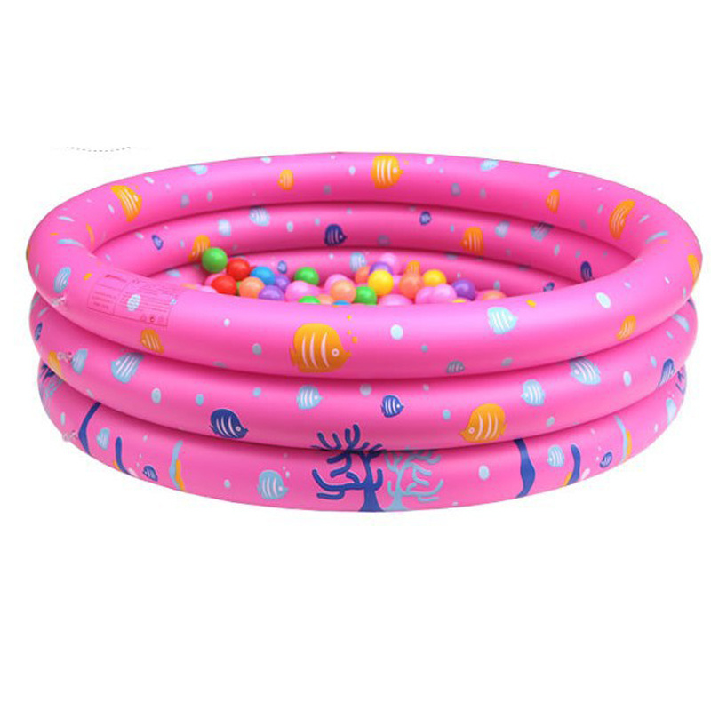 Family PVC or TPU Inflatable 2 Rings Swimming Pool for Baby