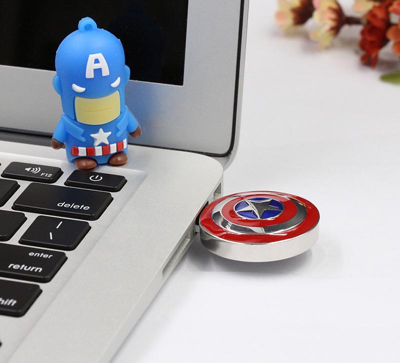 Captain America′s Shield Metal USB Flash Drive Pendrive