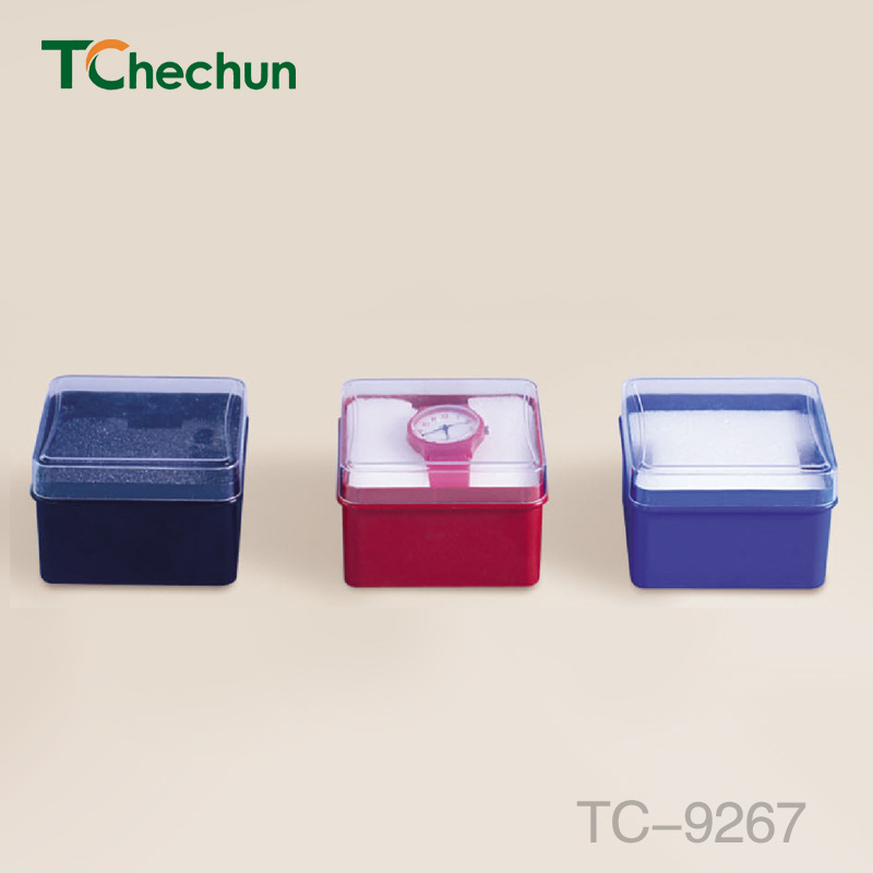 Small Square Transparent Cover Variety of Color Within The Sponge Plastic Box