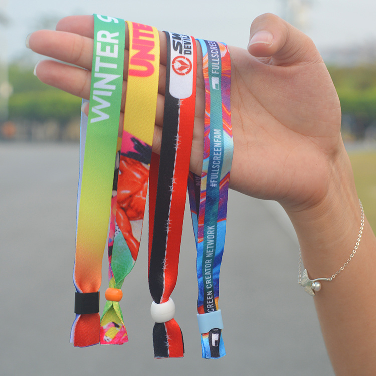 Custom Brand Design Event Wristband Giveaways with Logo