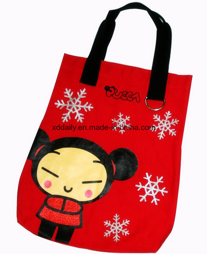 Color Full Printing Tote Promotional Bag with Handle