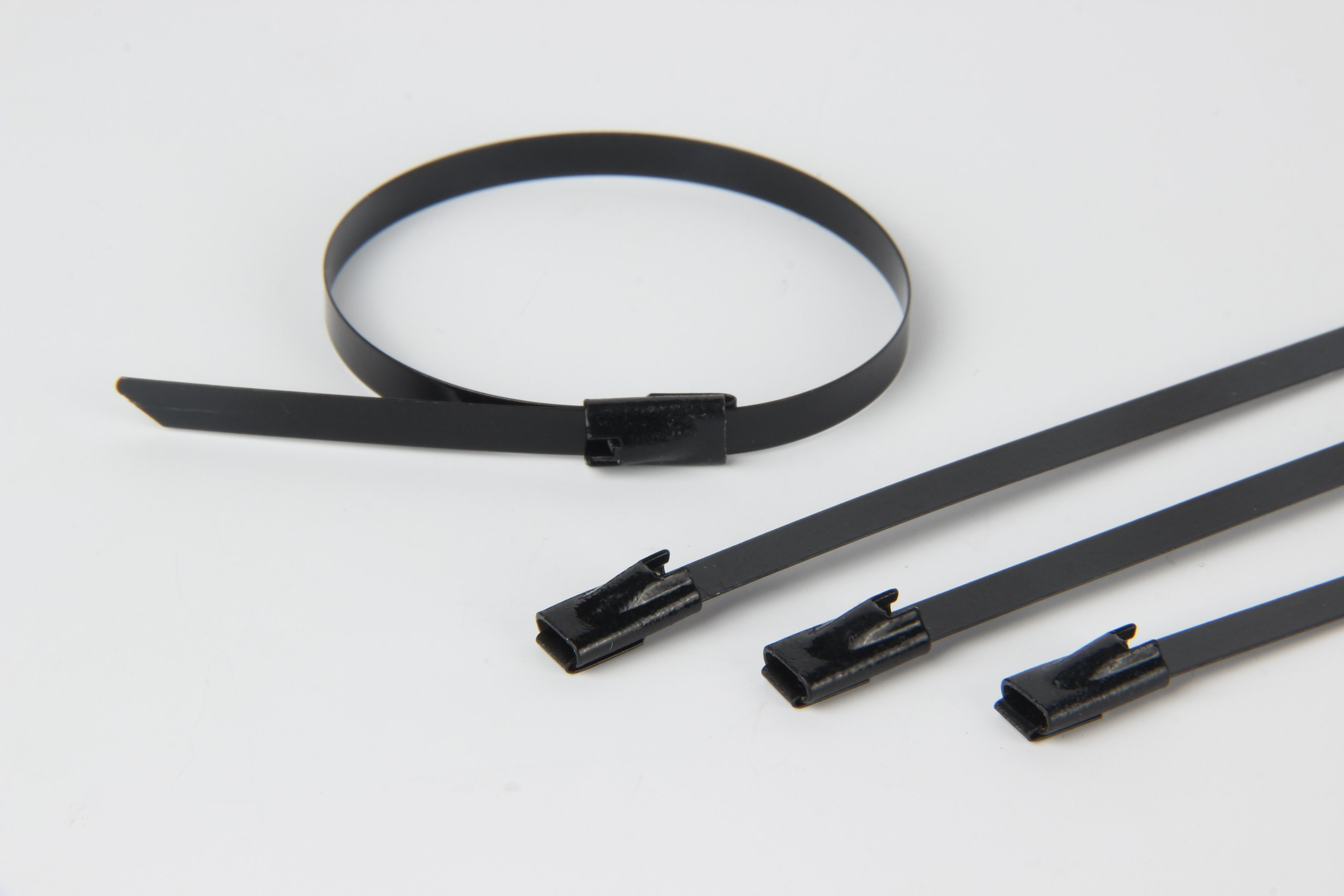 Polyester Fully Coated Stainless Steel Cable Tie Ball Lock Type