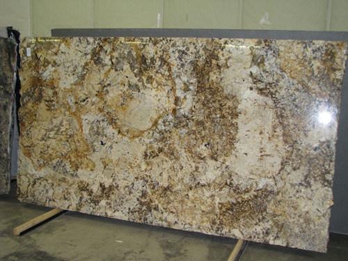 Crystalline Stone Slabs : China crystal yellow granite slab wf