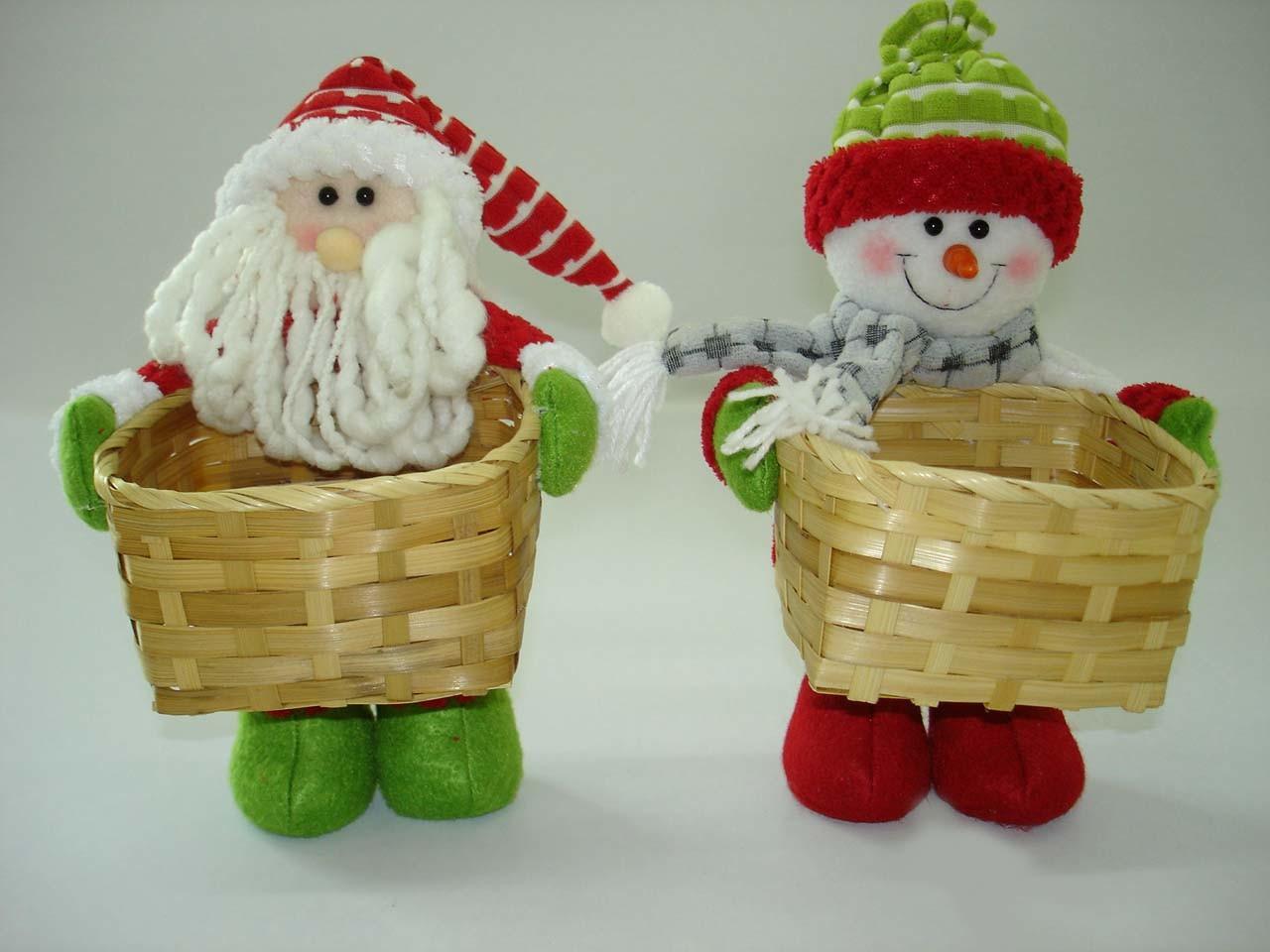 China santa claus and snowman with basket vs