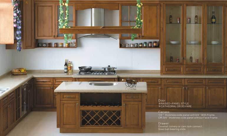 Wooden Kitchen Cabinet Maple