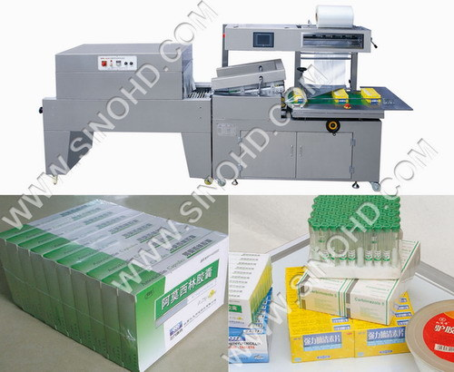 Automatic L-bar Sealing & Shrink Packing Machine & Samples (BS-400LB+BMD-450B)