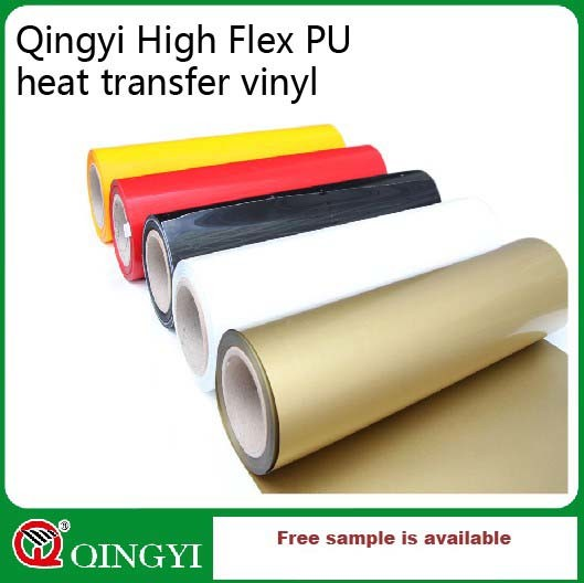 Qingyi Custom DIY 22 Colors A4 PU Heat Transfer Film Sheets for Garment