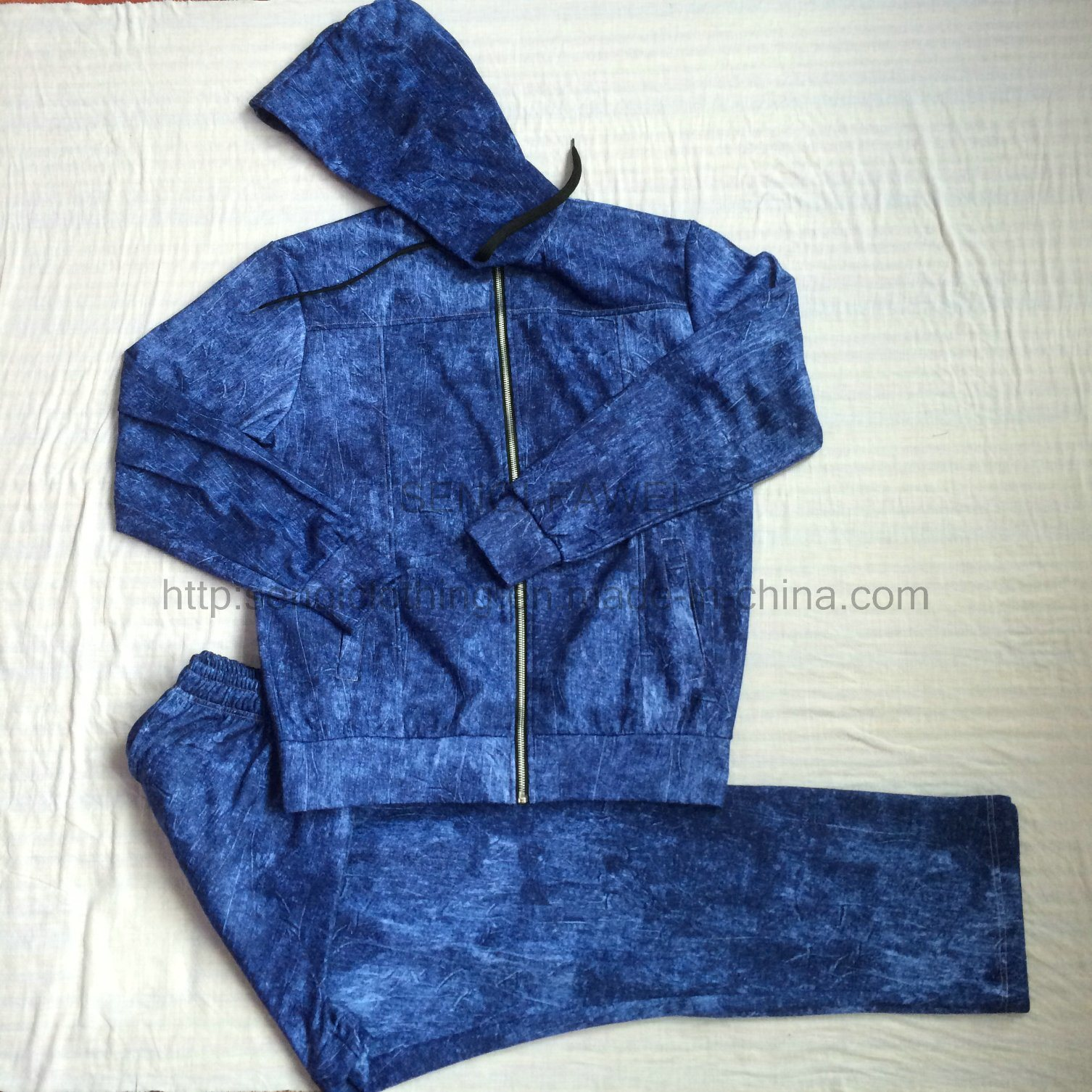 Winter Men Fleece Tracksuit Clothes in Fashion Sport Wear Clothing Fw-8681