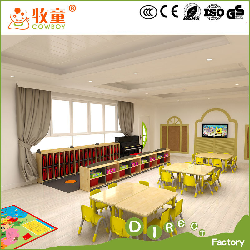 China Supplies Kids Wooden Kindergarten Classroom Furniture for Preschool with Ce