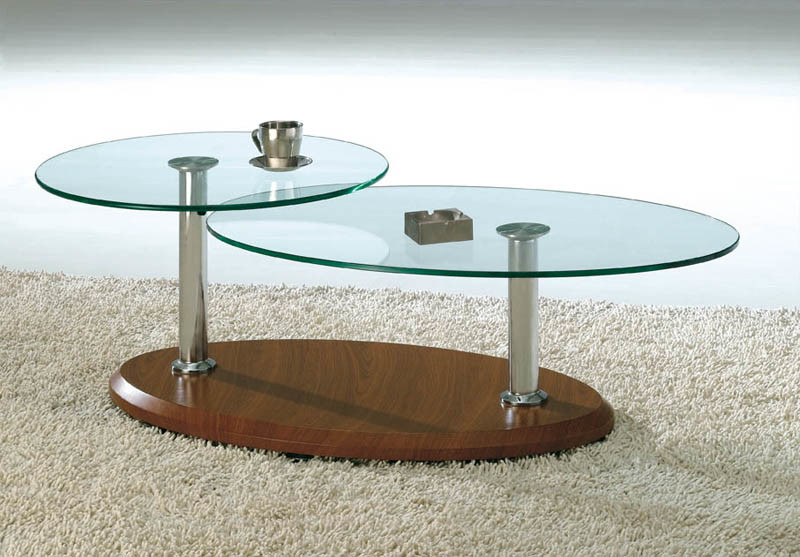 glass side table. Swivel Glass Top Coffee Table