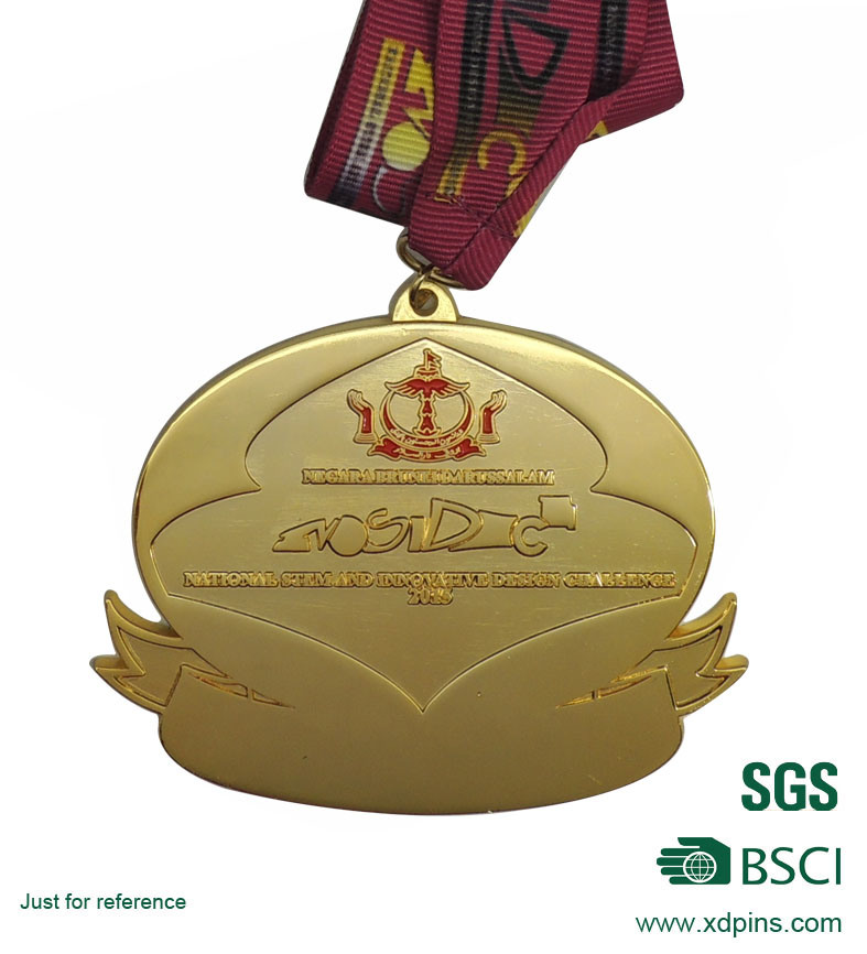 Hot Selling Casting Custom Antique Running Medals with Ribbon
