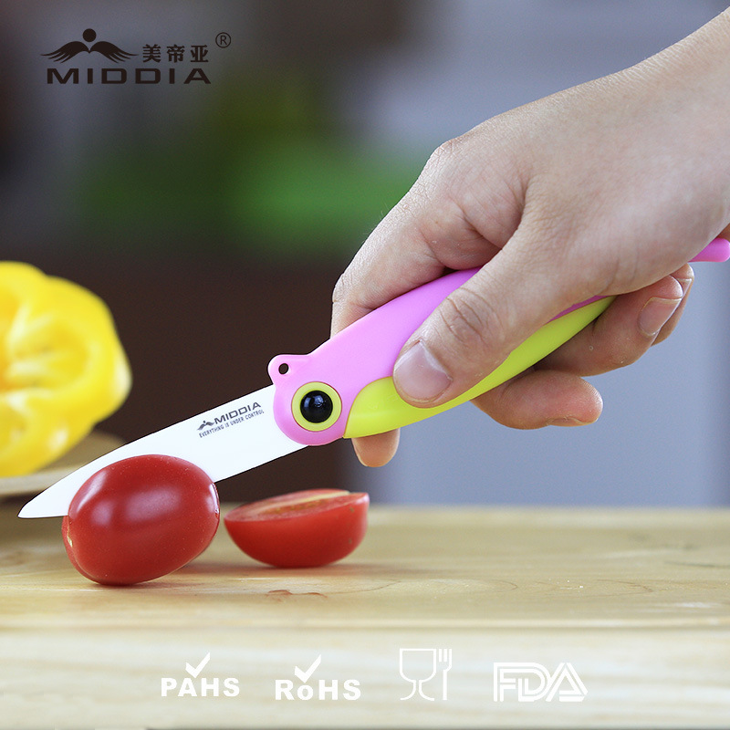 Advanced Ceramic Promotion/Promotional Gift for Portable Folding Fruit Knife