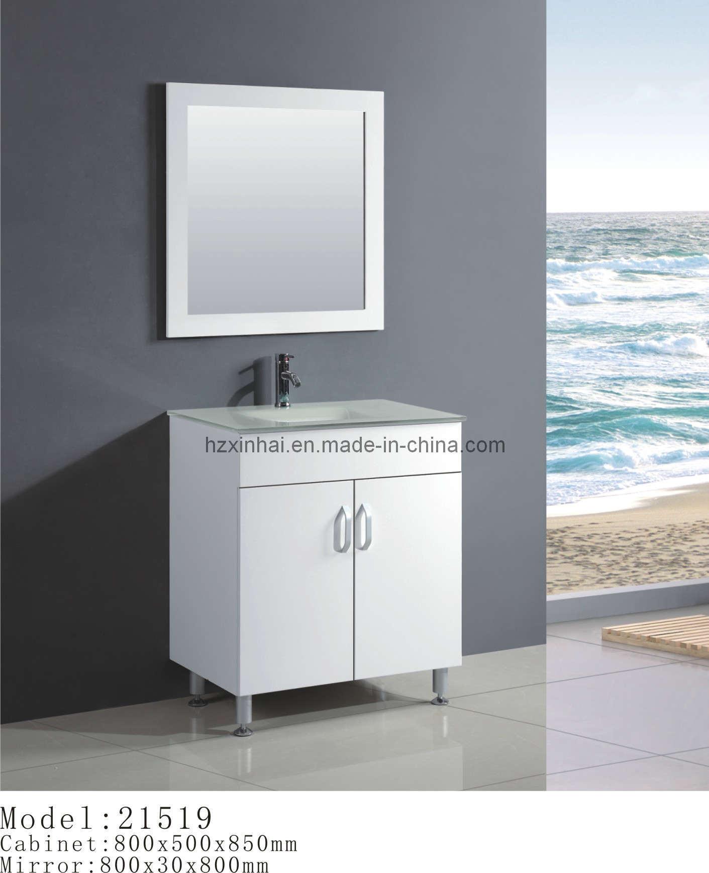 White MDF Bathroom Vanity 21519