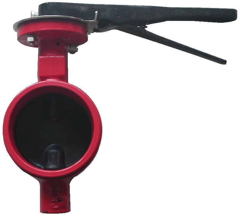 China grooved end butterfly valve ibxoo ge