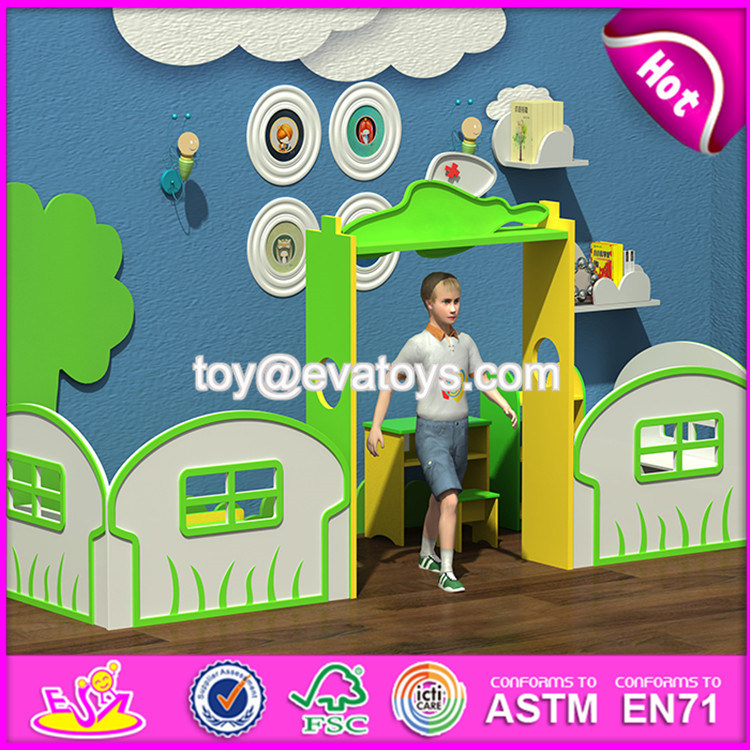 New Style Castle Toy Wooden Kids Indoor Playhouse W08c182