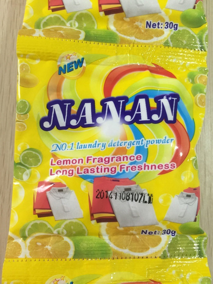 Nanan (Lemon fragrance) for Laudry Washing Powder, Detergent Powder, Clothes Washing Powder, Bulk Detergent Powder, China Detergent Manufacture