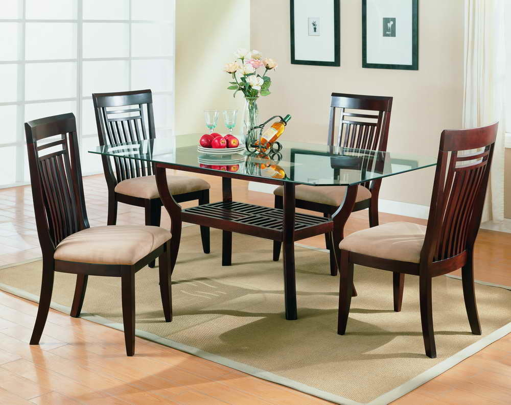 China dining room furniture china glass table top for Breakfast room furniture