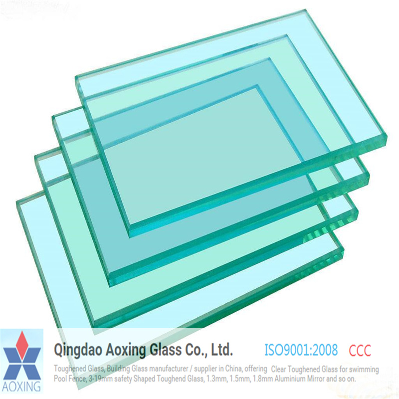 Clear Toughened/Tempered Glass for Building Glass
