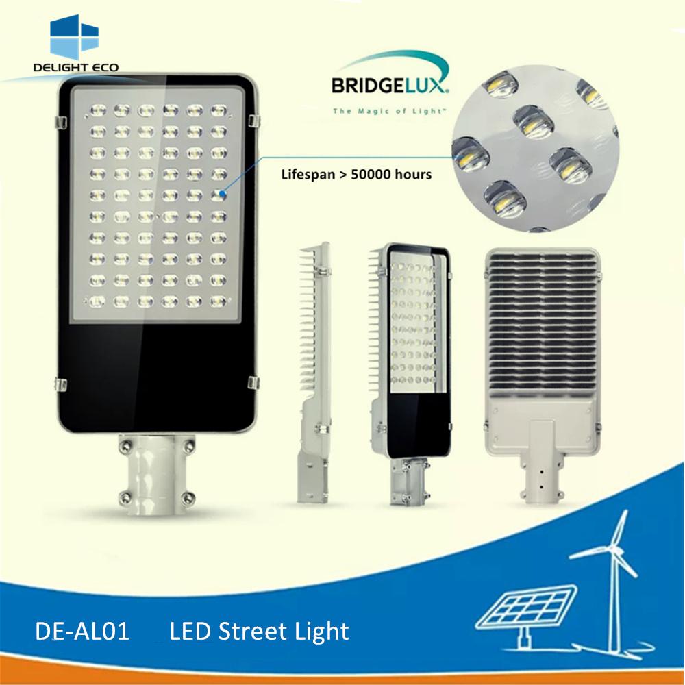 Delight De-Al01 AC/DC CREE/Bridgelux Chip Fixture LED Outdoor Street Light