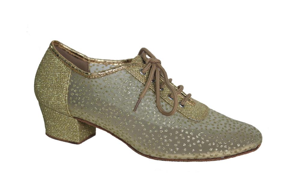 Ladies Golden Mesh Upper Salsa/Latin Dance Practice Shoes