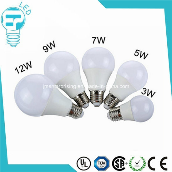 LED Bulb Plastic Lamp 220V 110V Cheap LED Bulb Light 9W E14 E27 B22 LED Bulb