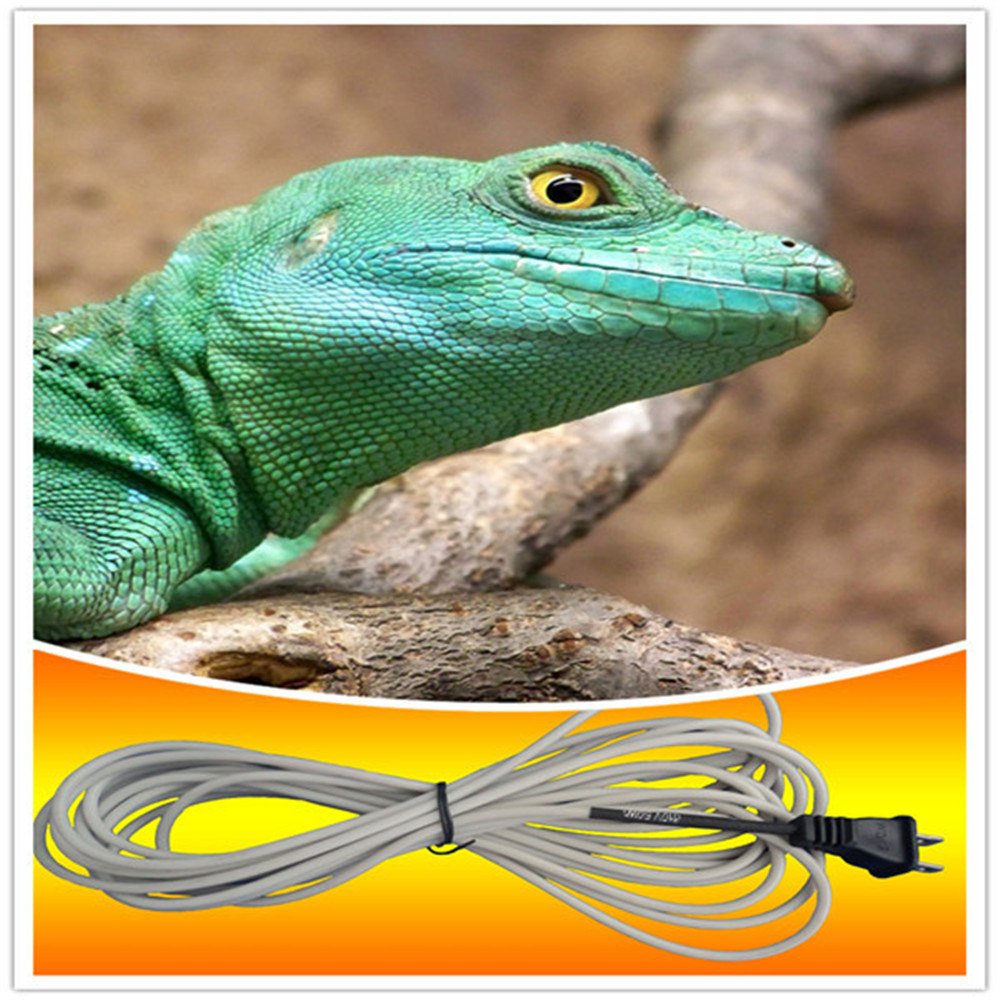 Silicone Rubber Insulation & Metal Wire Braid Reptile Heating Cable
