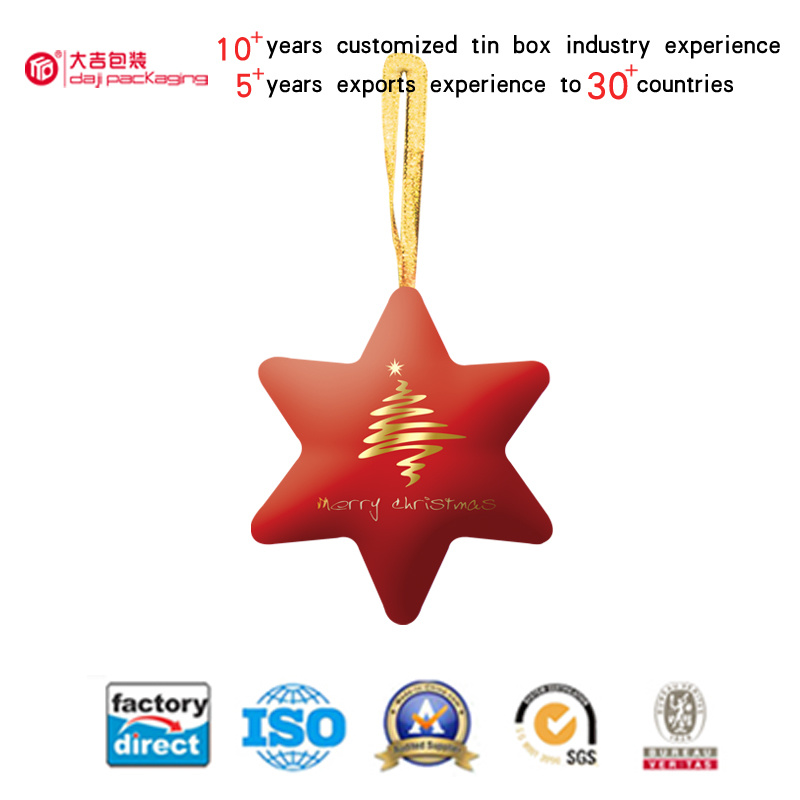Hexagram Christmas Gift Tin Box (HS001-V3)