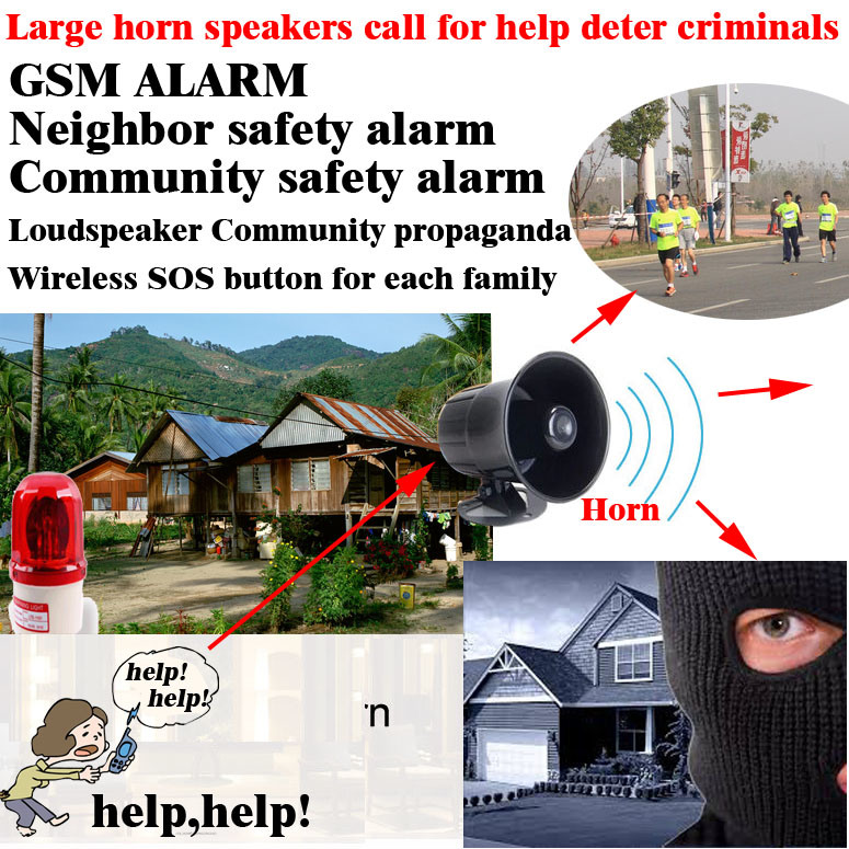 GSM Neighbor Help, GSM Community Security and Alarm Box