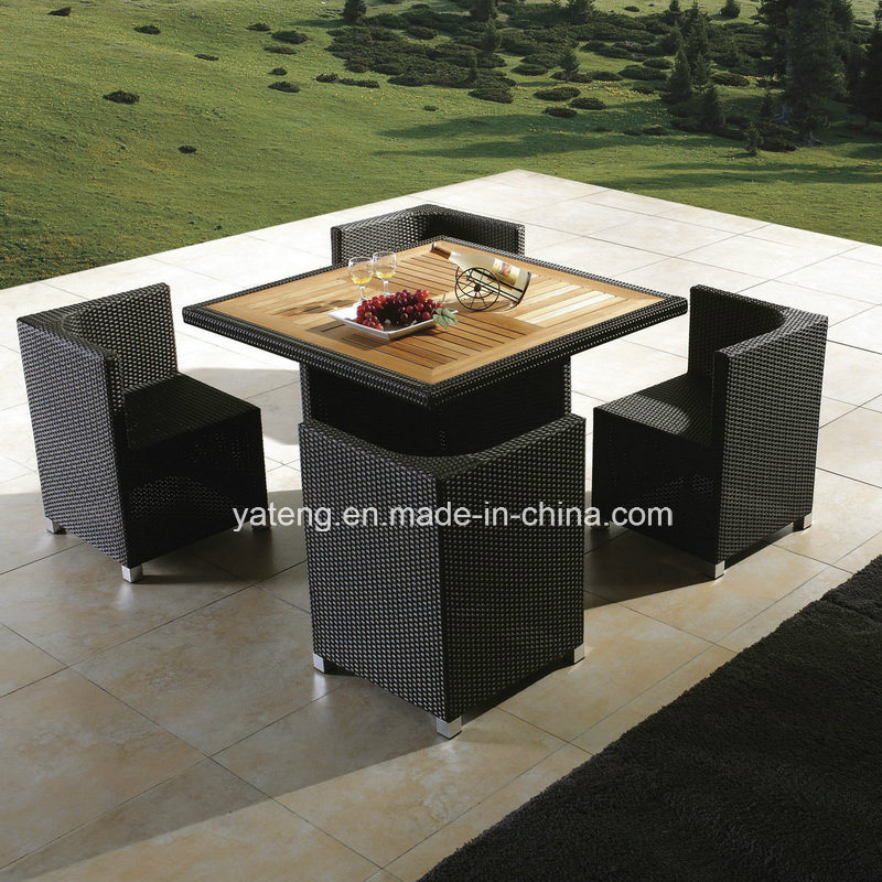 Aluminum Frame with Teak Set with Chair Leisure Outdoor Furniture Dining Set (YT233)