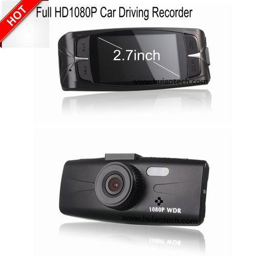 "Cheap 2.7"" Car Driving Video Recorder with WDR, Full 1080P, 3.0mega CMOS, G-Sensor Function"