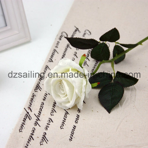Wholesale Velvet Wedding Rose Flower for Decoration (SF16222)
