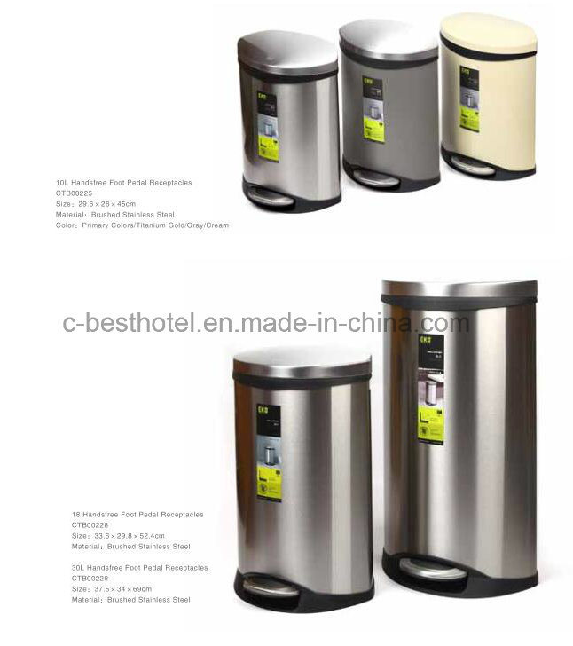 Indoor Stainless Steel Dustbin Stainless Steel F