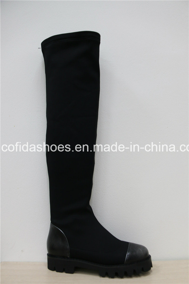 16fw New Style Flat Boots for Fashion Ladies